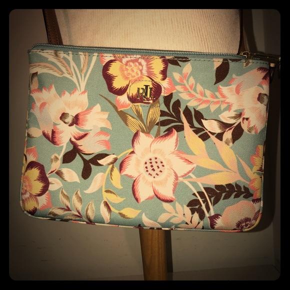 400652c066 Lauren Ralph Lauren Handbags - Lauren Ralph Lauren Light Blue Floral  Crossbody